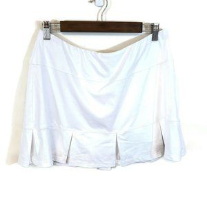 Tail Womens White Athletic Pleated Mini Skirt Size